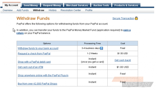 How to withdraw funds from your PayPal account - Knowledgebase