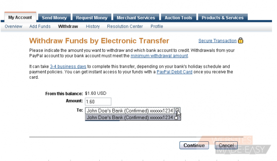 how to add funds to paypal nz